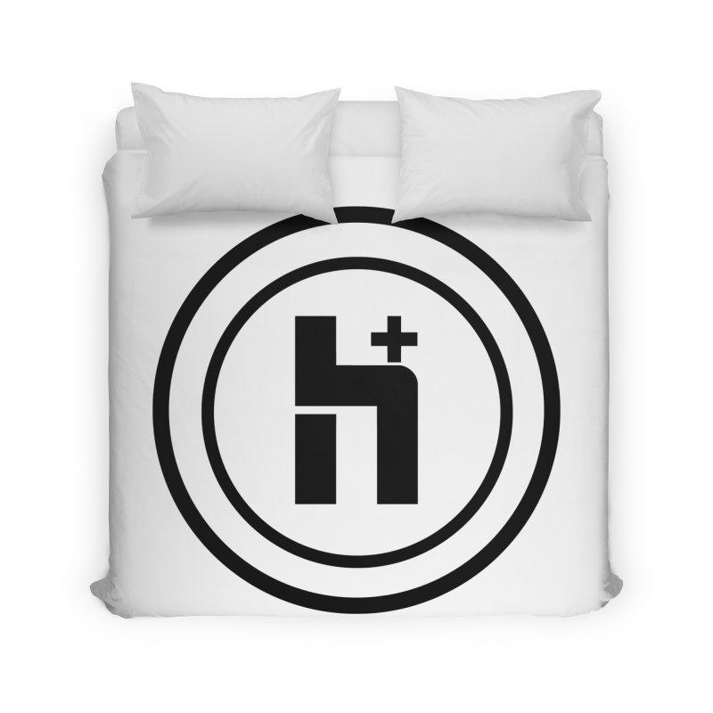 H Plus Circle 1 Home Duvet by Transhuman Shop