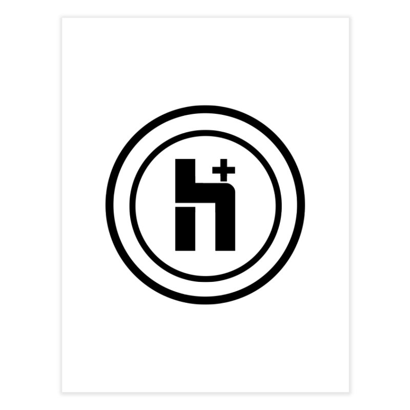 H Plus Circle 1 Home Fine Art Print by Transhuman Shop