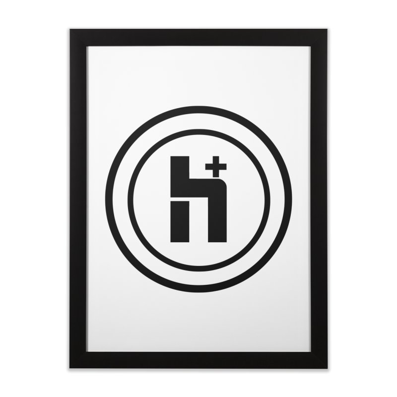 H Plus Circle 1 Home Framed Fine Art Print by Transhuman Shop