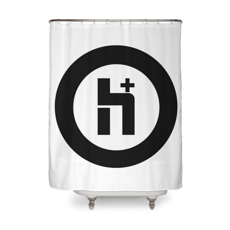 H Plus circle 2 Home Shower Curtain by Transhuman Shop