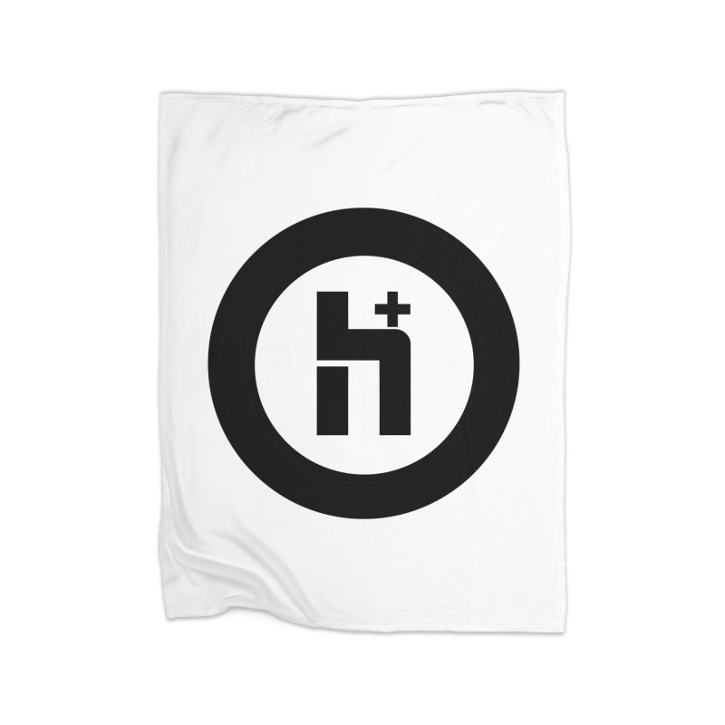 H Plus circle 2 Home Blanket by Transhuman Shop