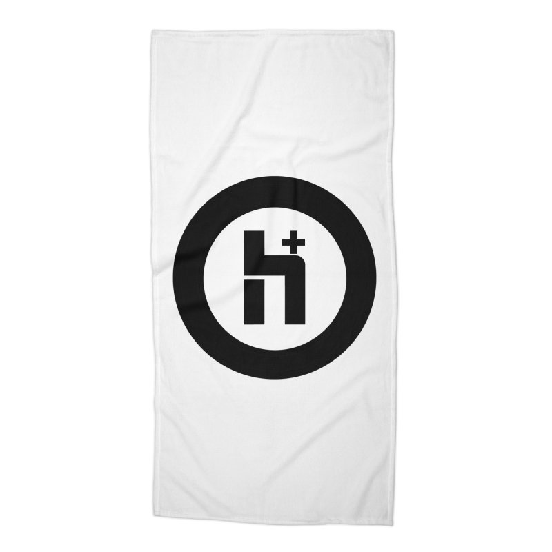 H Plus circle 2 Accessories Beach Towel by Transhuman Shop
