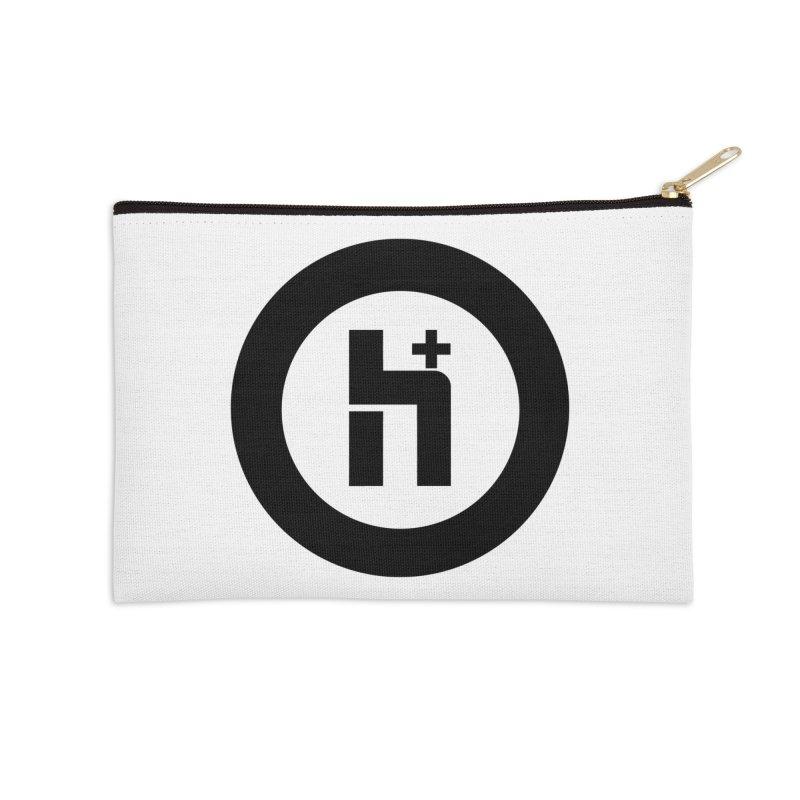 H Plus circle 2 Accessories Zip Pouch by Transhuman Shop