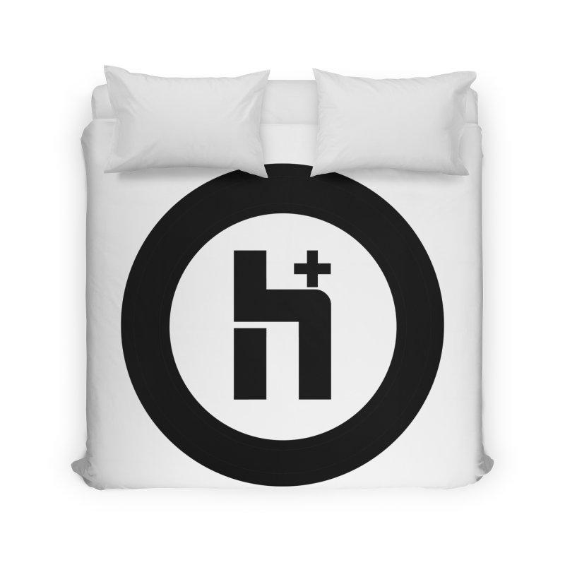 H Plus circle 2 Home Duvet by Transhuman Shop