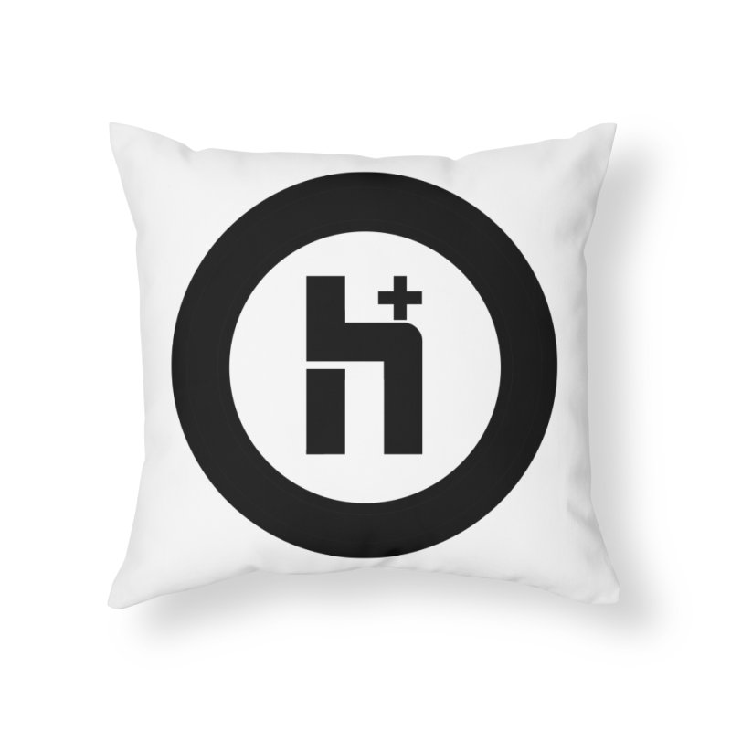 H Plus circle 2 Home Throw Pillow by Transhuman Shop