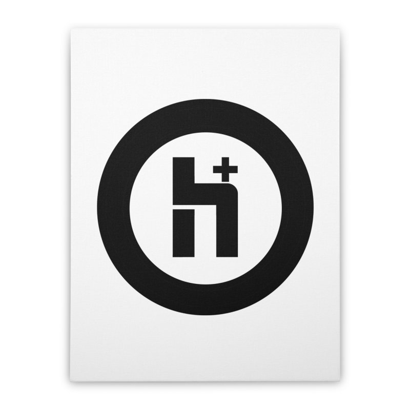 H Plus circle 2 Home Stretched Canvas by Transhuman Shop