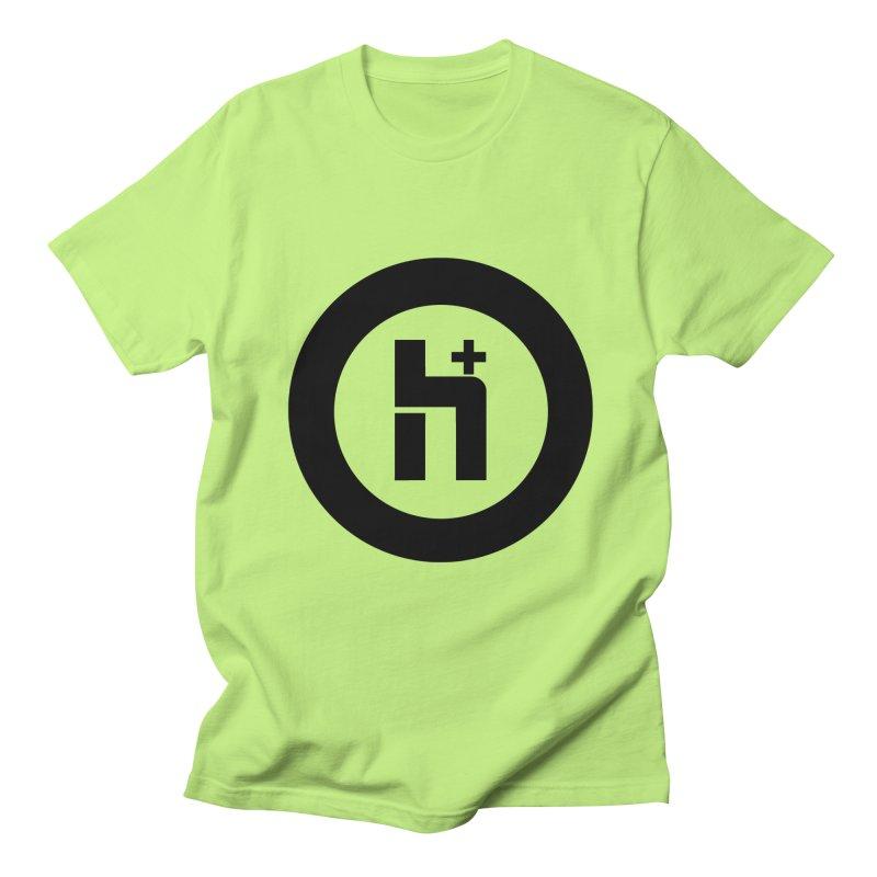 H Plus circle 2 Men's T-Shirt by Transhuman Shop
