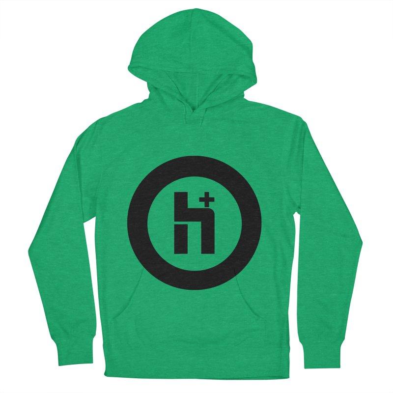 H Plus circle 2 Women's Pullover Hoody by Transhuman Shop