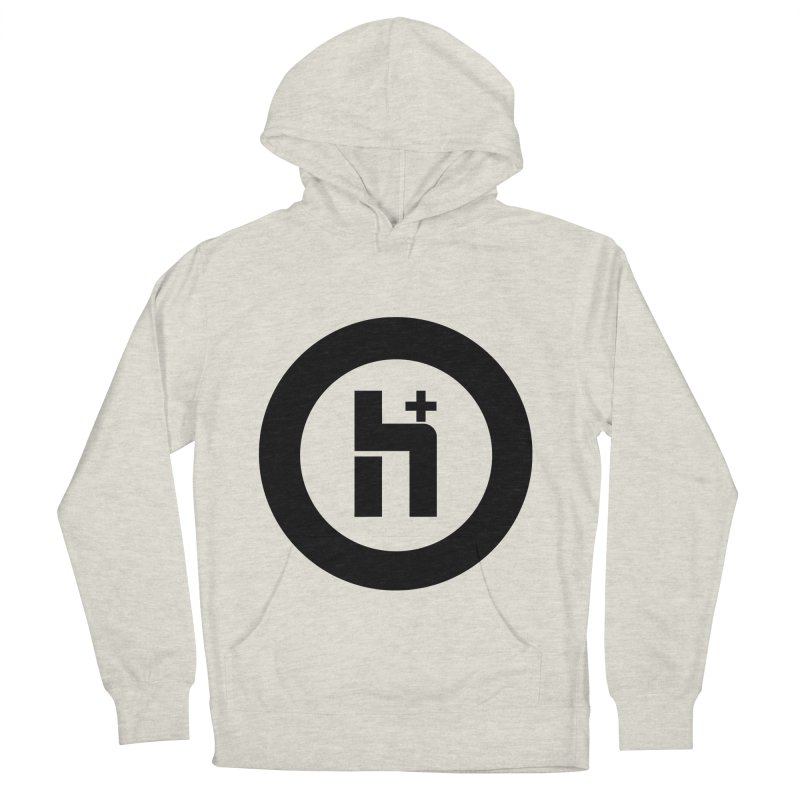 H Plus circle 2 Women's Pullover Hoody by Transhuman Shop