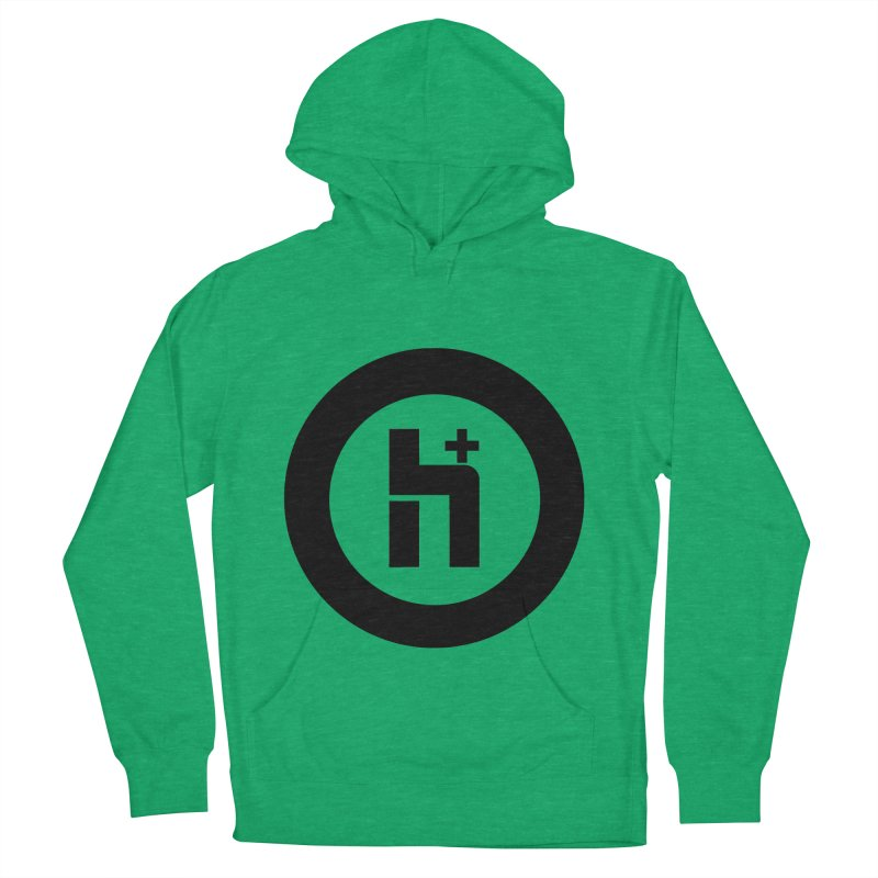 H Plus circle 2 Men's Pullover Hoody by Transhuman Shop