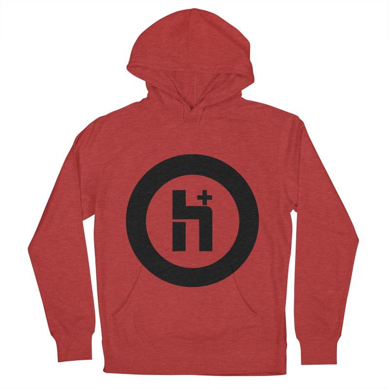 H Plus circle 2 Men's Pullover Hoody by Transhuman Shop