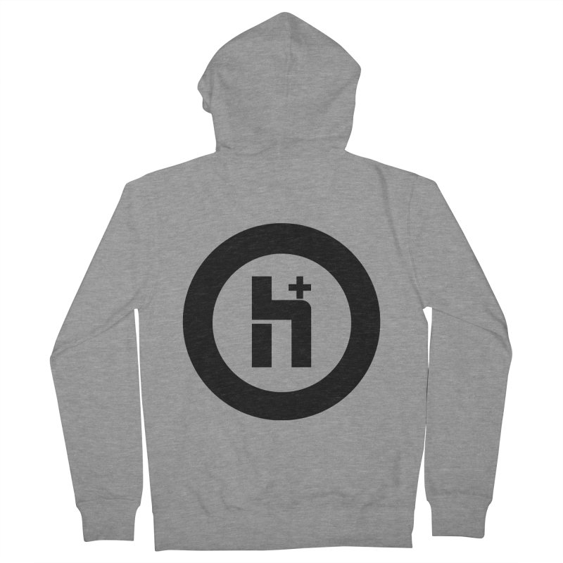 H Plus circle 2 Women's Zip-Up Hoody by Transhuman Shop