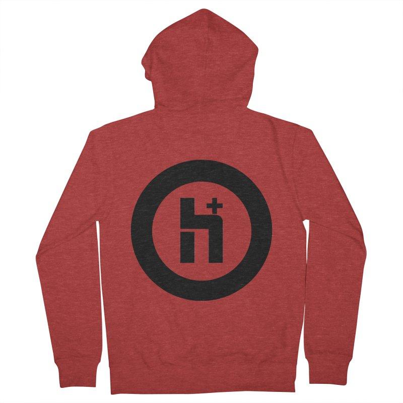 H Plus circle 2 Women's Zip-Up Hoody by Transhuman Shop