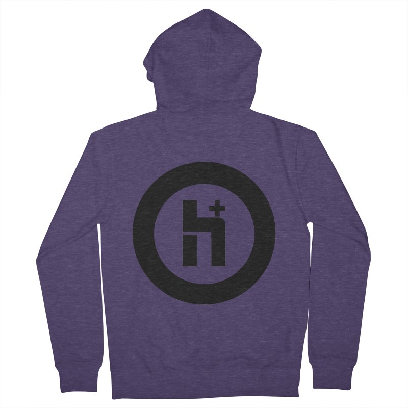 H Plus circle 2 Men's Zip-Up Hoody by Transhuman Shop