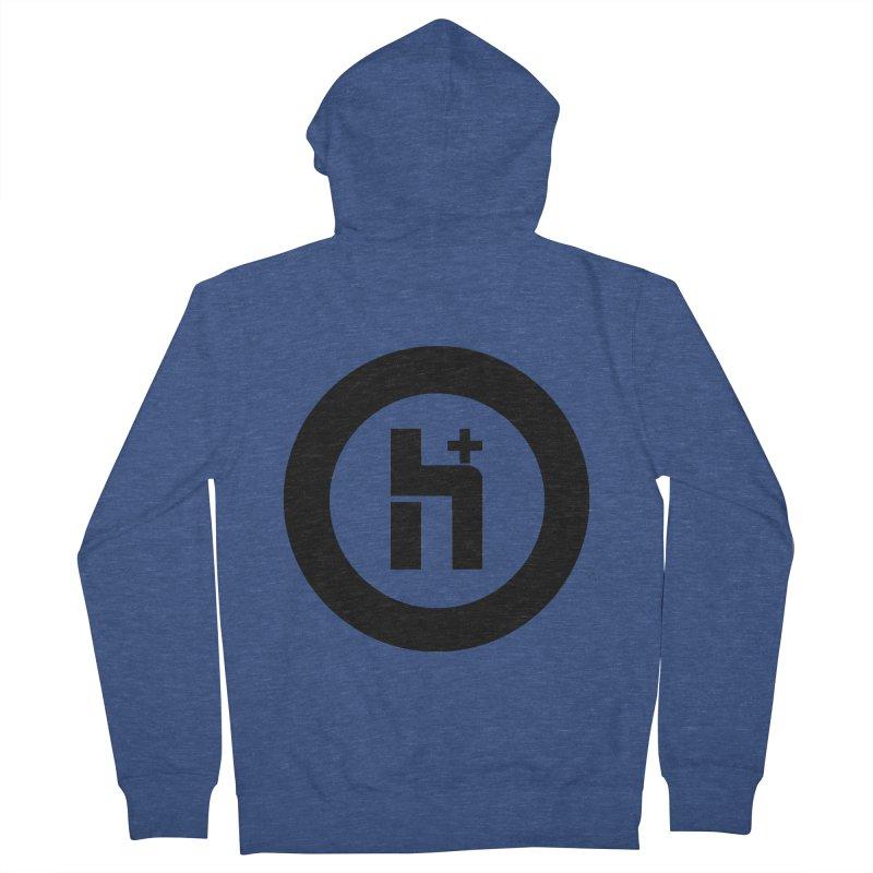 H Plus circle 2 Men's Zip-Up Hoody by Transhuman Shop