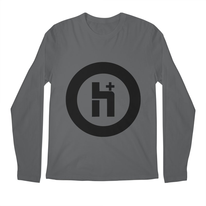 H Plus circle 2 Men's Longsleeve T-Shirt by Transhuman Shop