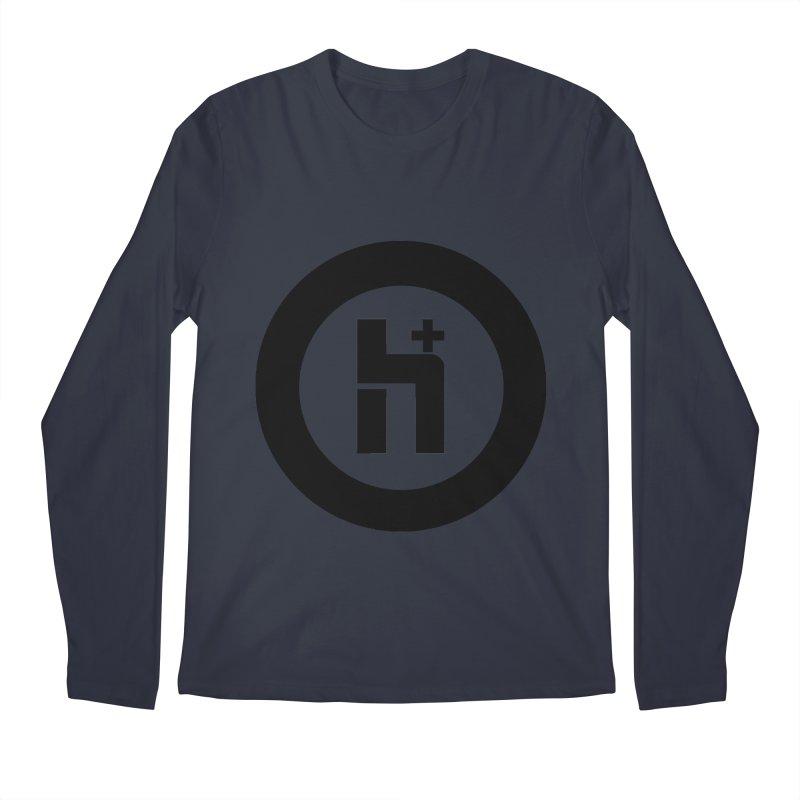 H Plus circle 2 Men's Longsleeve T-Shirt by Transhuman Shop