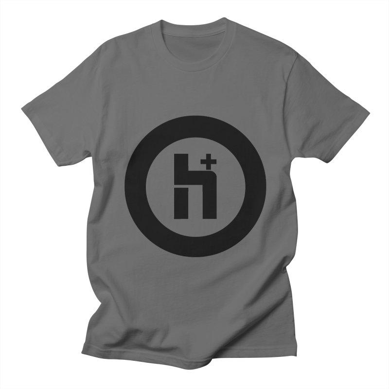 H Plus circle 2 Men's French Terry Zip-Up Hoody by Transhuman Shop