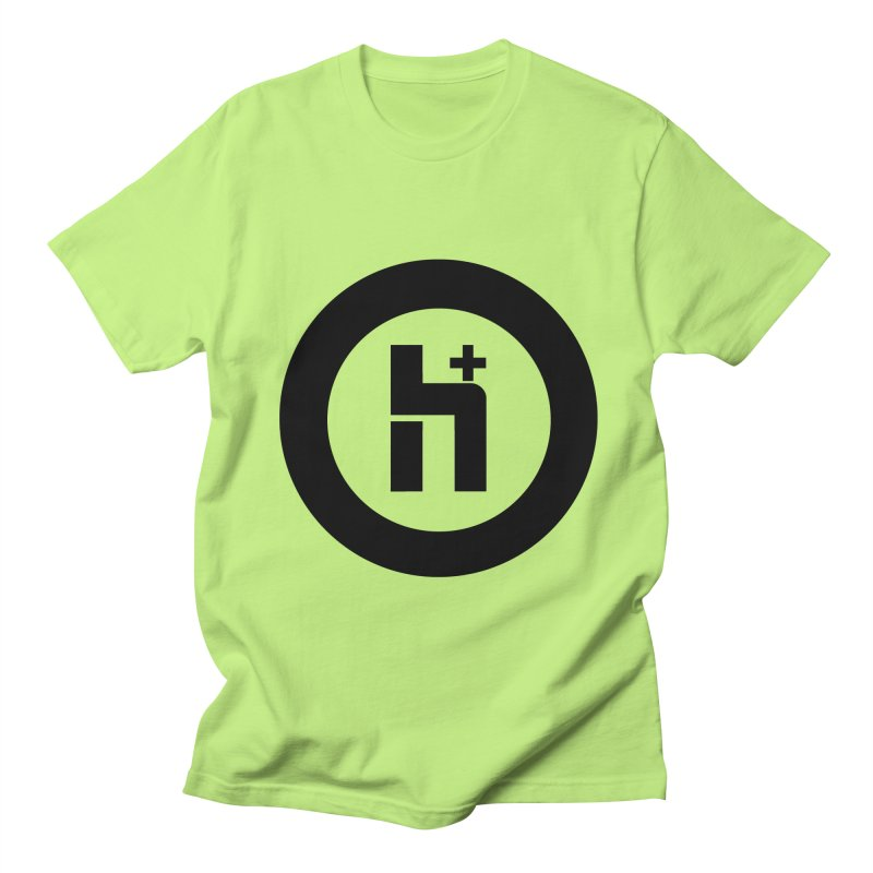 H Plus circle 2 Men's T-Shirt by Transhuman Shop