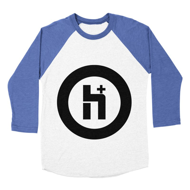 H Plus circle 2 Women's Baseball Triblend T-Shirt by Transhuman Shop