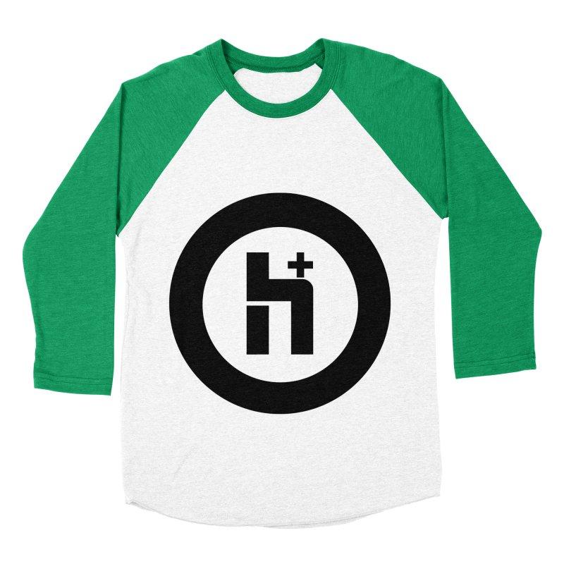 H Plus circle 2 Women's Baseball Triblend T-Shirt by Transhuman Shop