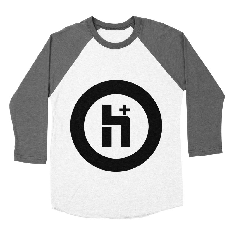 H Plus circle 2 Men's Baseball Triblend T-Shirt by Transhuman Shop