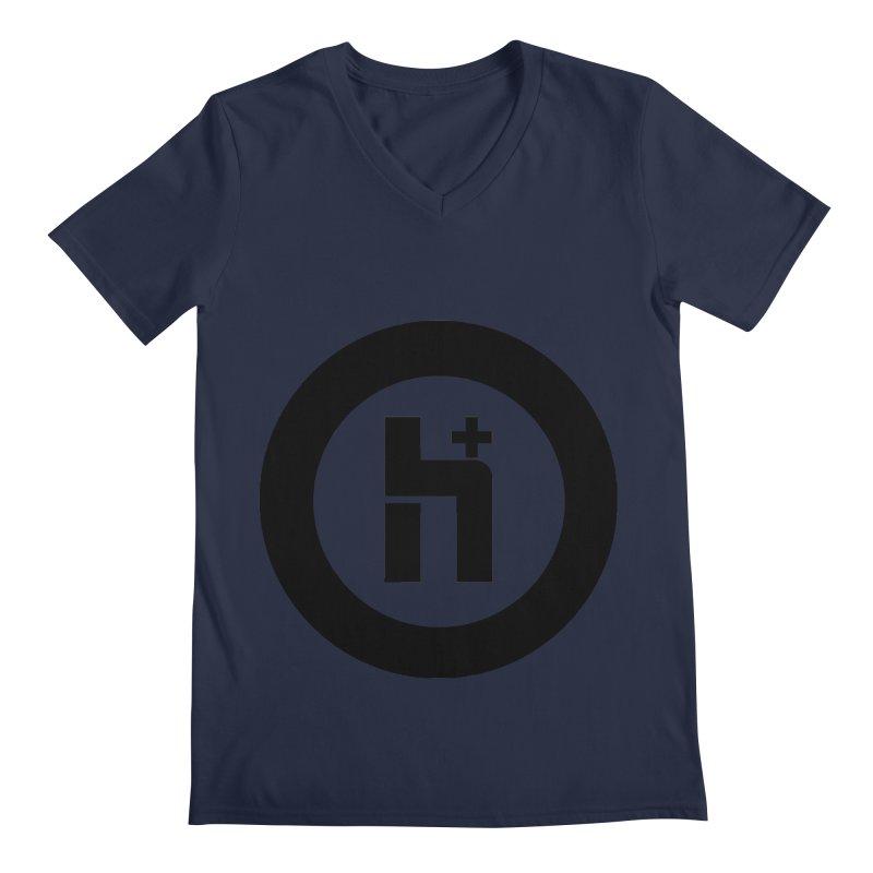 H Plus circle 2 Men's V-Neck by Transhuman Shop