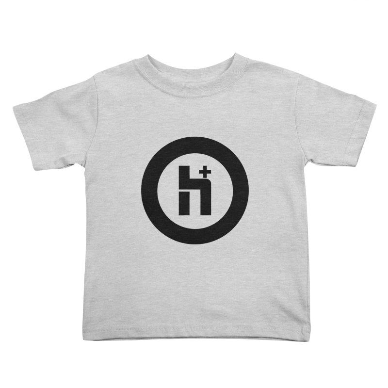 H Plus circle 2 Kids Toddler T-Shirt by Transhuman Shop
