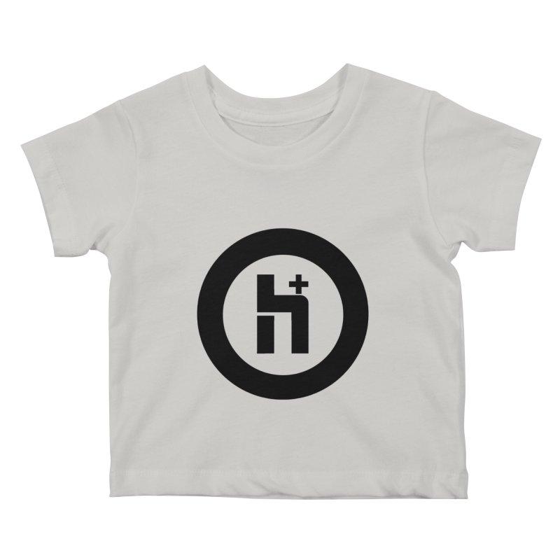 H Plus circle 2 Kids Baby T-Shirt by Transhuman Shop