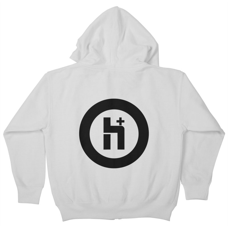 H Plus circle 2 Kids Zip-Up Hoody by Transhuman Shop