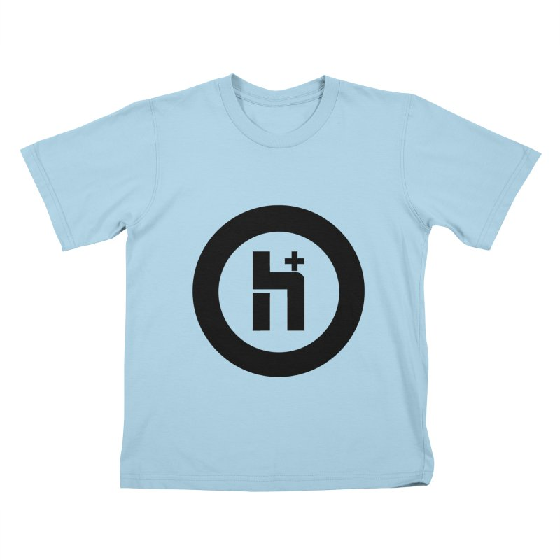 H Plus circle 2 Kids T-shirt by Transhuman Shop