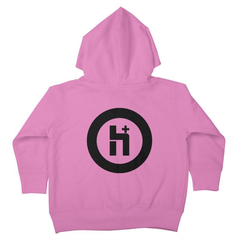 H Plus circle 2 Kids Toddler Zip-Up Hoody by Transhuman Shop