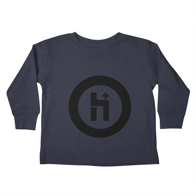 H Plus circle 2 Kids Toddler Longsleeve T-Shirt by Transhuman Shop