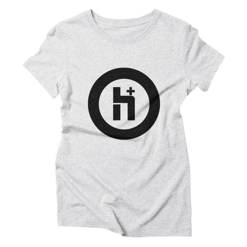 H Plus circle 2 Women's Triblend T-Shirt by Transhuman Shop