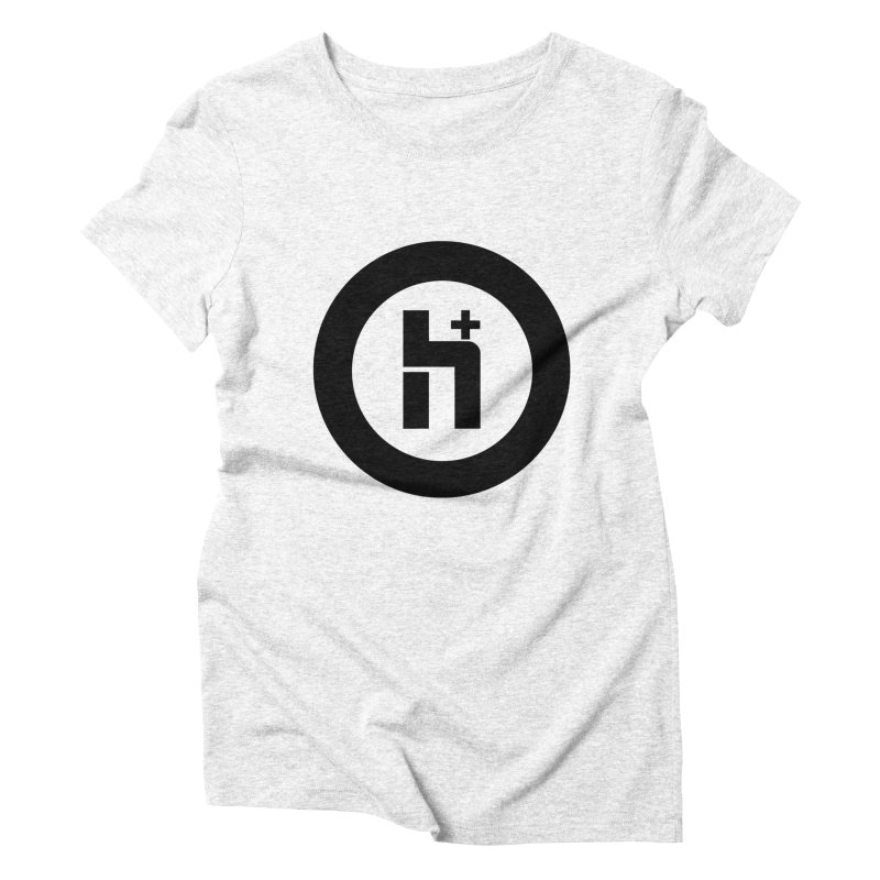 H Plus circle 2 Women's Triblend T-shirt by Transhuman Shop