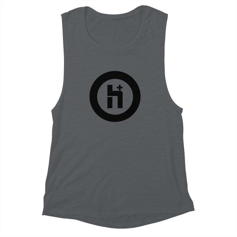H Plus circle 2 Women's Muscle Tank by Transhuman Shop