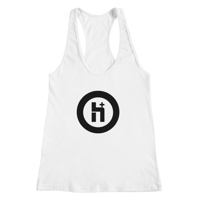 H Plus circle 2 Women's Racerback Tank by Transhuman Shop