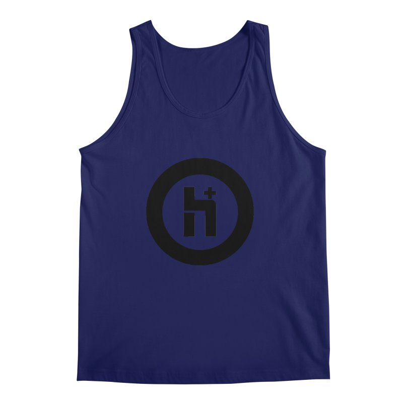 H Plus circle 2 Men's Tank by Transhuman Shop