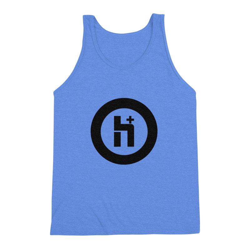 H Plus circle 2 Men's Triblend Tank by Transhuman Shop