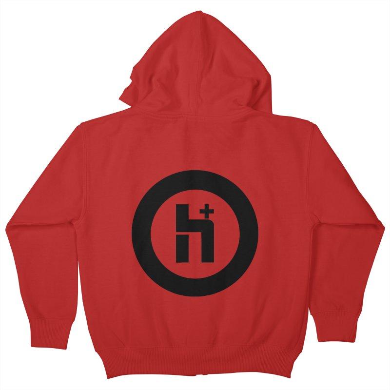 H Plus circle 2 Kids Zip-Up Hoody by Transhuman Shop