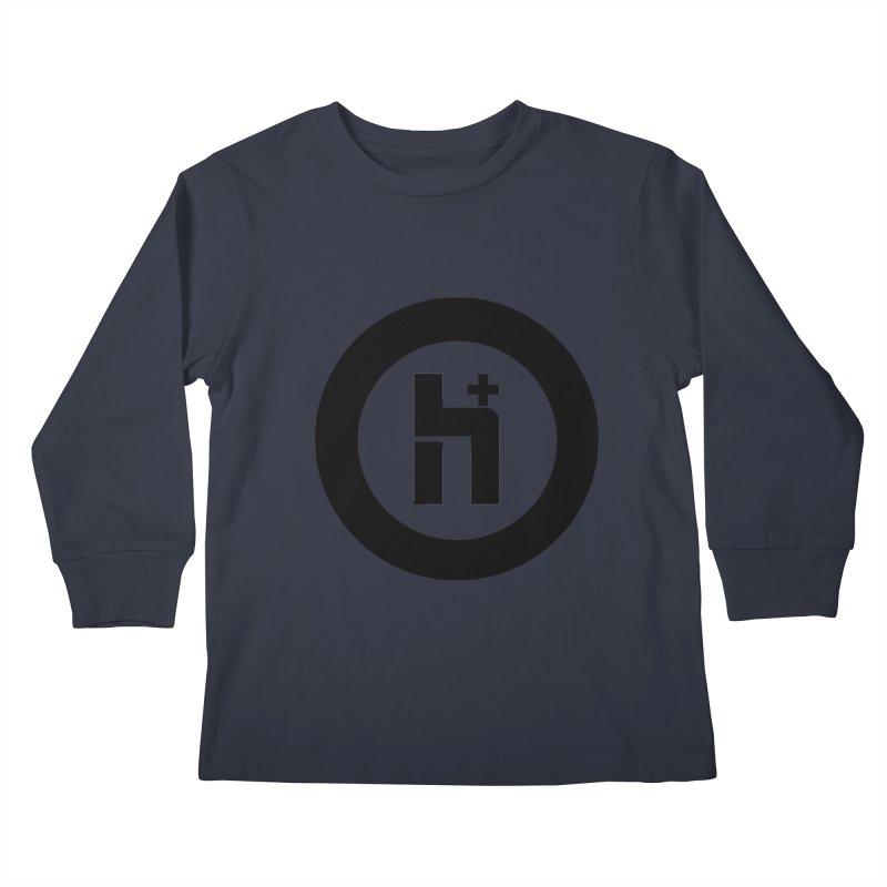 H Plus circle 2 Kids Longsleeve T-Shirt by Transhuman Shop