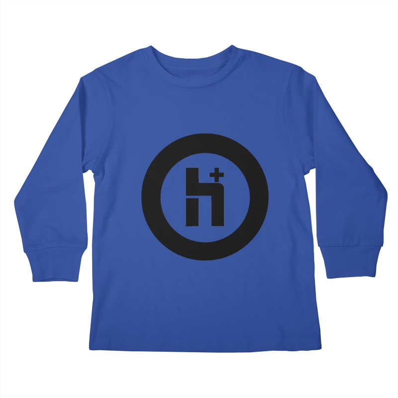 H Plus circle 2 Kids Longsleeve T-Shirt by Transhuman Shop