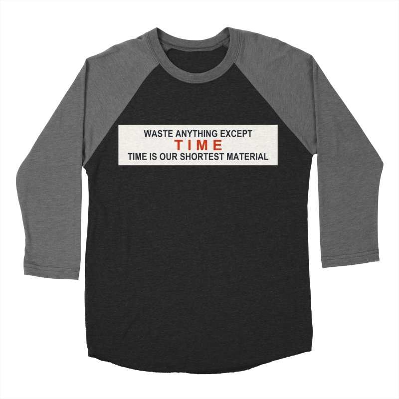 Waste Anything Except Time Men's Baseball Triblend T-Shirt by Transhuman Shop
