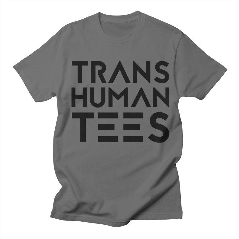 Transhuman Tees Logo Men's French Terry Zip-Up Hoody by Transhuman Shop
