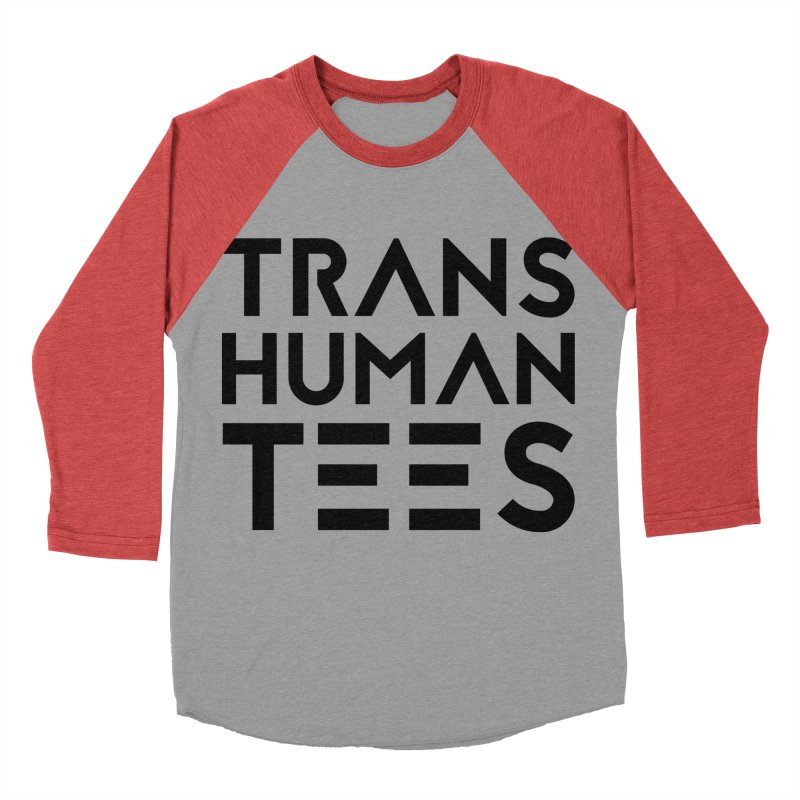 Transhuman Tees Logo Men's Baseball Triblend T-Shirt by Transhuman Shop