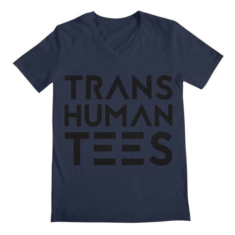 Transhuman Tees Logo Men's V-Neck by Transhuman Shop