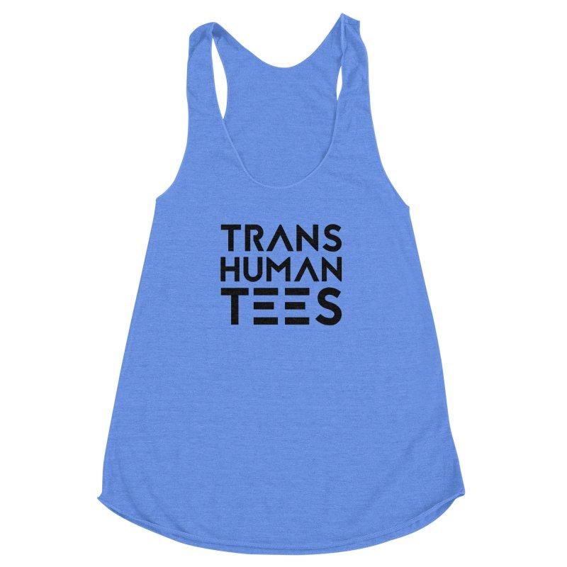 Transhuman Tees Logo Women's Racerback Triblend Tank by Transhuman Shop