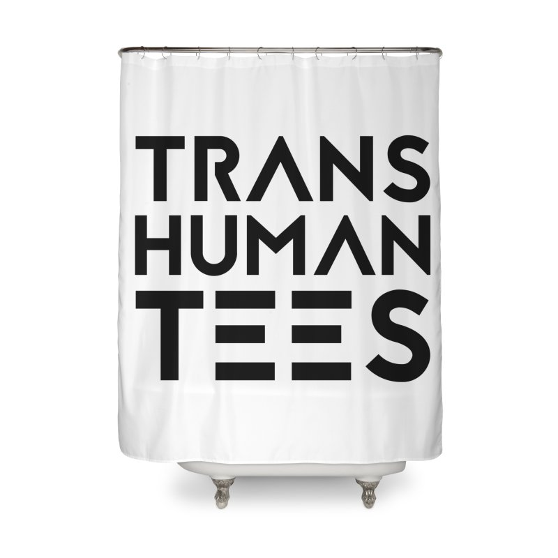 Transhuman Tees Logo Home Shower Curtain by Transhuman Shop