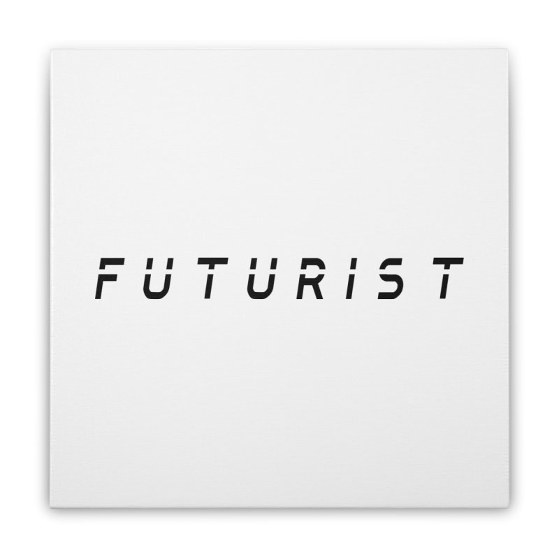 Futurist Home Stretched Canvas by Transhuman Shop