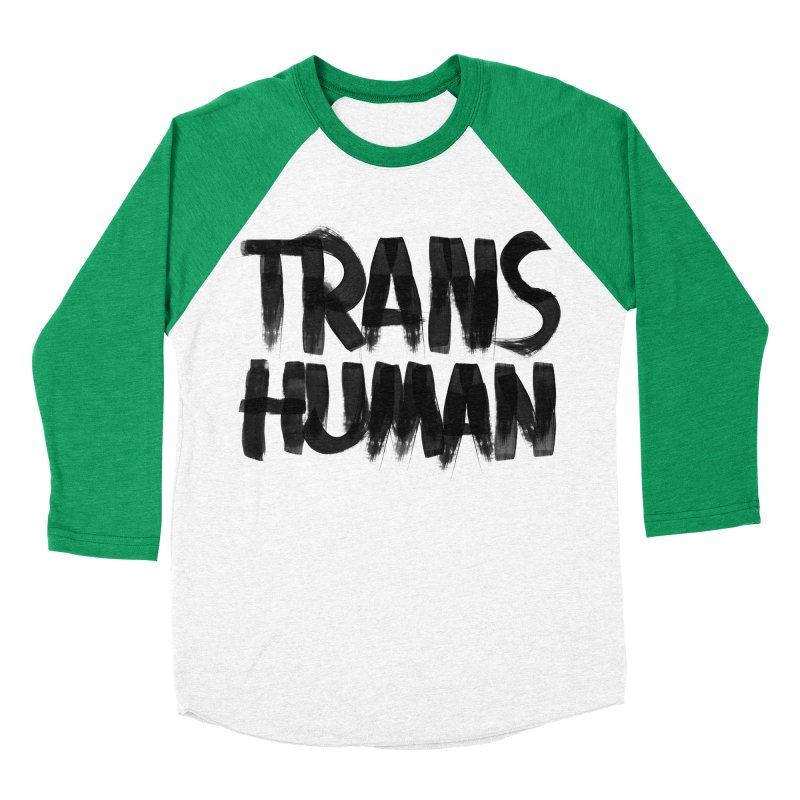 Transhuman Men's Baseball Triblend T-Shirt by Transhuman Shop
